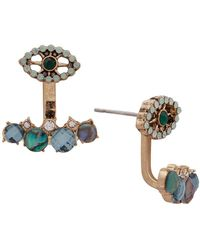 Lonna & Lilly - Goldtone Cabochon And Obalone Floating Earrings - Lyst