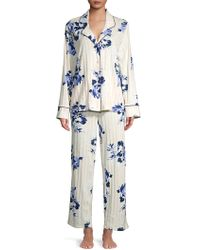 9f44a1229350a Lord + Taylor Plus Long Waffle-knit Robe in White - Lyst