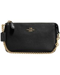 COACH - Nolita Wristlet 19 In Polished Pebble Leather - Lyst