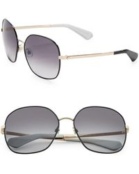 Kate Spade - Carlisa 59mm Round Sunglasses - Lyst