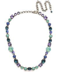 Sorrelli - Moonlit Shores Heather Crystal Necklace - Lyst