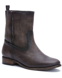 Frye - Cara Leather Ankle Boots - Lyst