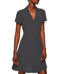 Mango - Printed Shirt Dress - Lyst