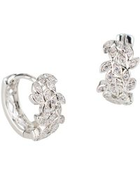 CZ by Kenneth Jay Lane - Crystal Huggie Earrings - Lyst