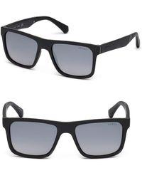 70945d31cd44e Lyst - Guess Matte Metal Aviator Sunglasses in Black for Men
