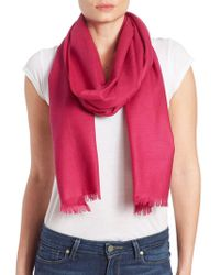 Lord & Taylor | Oversize Wool And Cashmere Wrap Scarf | Lyst