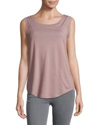 Alternative Apparel - Jersey Cap Sleeve Crewneck Top - Lyst