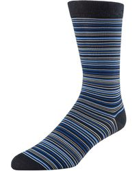 Cole Haan - Multi-stripe Crew Socks - Lyst