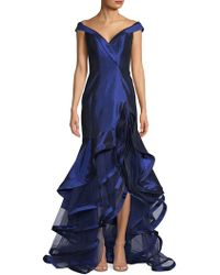 bd617e7b Balmain Off Shoulder Balloon Sl Diamond Dress in Metallic - Lyst