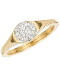 Adina Reyter - Large Solid Pavé Disc Signet Ring - Lyst
