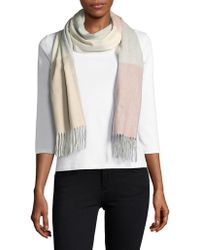 Lord & Taylor - Colorblock Scarf - Lyst