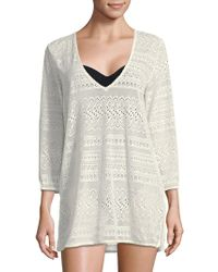 Kate Spade - Lace V-neck Coverup Tunic - Lyst