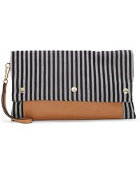 Vince Camuto - Loula Convertible Striped Clutch - Lyst