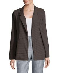 Lord & Taylor - Checkered Boyfriend Blazer - Lyst