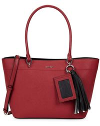 Calvin Klein - Susan Small Leather Tote - Lyst