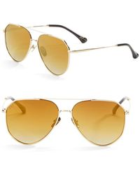 DIFF - 57mm Dash Aviator Sunglasses - Lyst