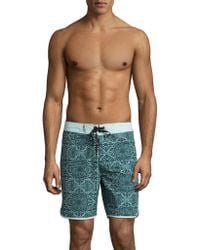 Hurley - Geo Phantom Swim Trunks - Lyst