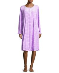 Carole Hochman - Printed Fleece Nightshirt - Lyst