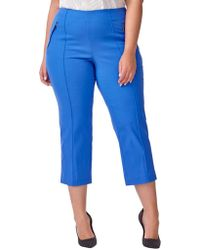 Addition Elle - Alexa Cropped-leg Pants - Lyst