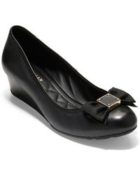 Cole Haan - Tali Soft Bow Wedge Court Shoes - Lyst