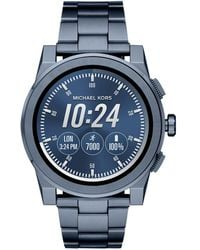 Michael Kors - Access Grayson Blue Ip Touchscreen Bracelet Smartwatch - Lyst
