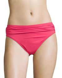 Tommy Bahama - Solid High Waist Sash Bikini Bottom - Lyst