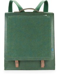 M.R.K.T. - Mateo Felt And Faux Suede Backpack - Lyst