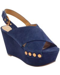 Marc Fisher - Barlow Suede Platform Wedge Sandals - Lyst