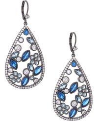 Nina - E-matalin Crystal Drop Earrings - Lyst