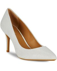 CALVIN KLEIN 205W39NYC - Gayle Embossed Leather Court Shoes - Lyst