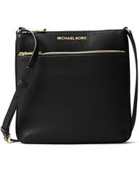MICHAEL Michael Kors - Bedford Small Flat Leather Crossbody Bag - Lyst