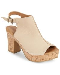 Kenneth Cole Reaction - Tole Tally Nubuck Stacked Heel Sandals - Lyst