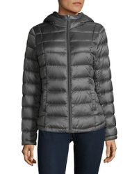 French Connection - Hooded Puffer Coat - Lyst
