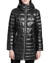 Calvin Klein - Zip Front Puffer Jacket With Hood - Lyst