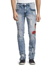 Reason - Slim-fit Snake Distressed Jeans - Lyst