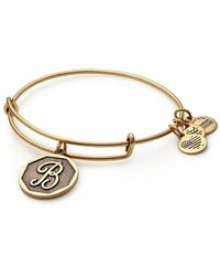 ALEX AND ANI - Initial B Charm Bangle - Lyst