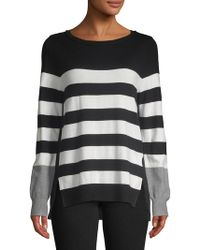 Isaac Mizrahi New York - Striped Colorblock Pullover - Lyst