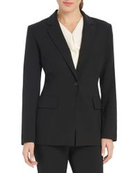 Ellen Tracy - Solid Long Sleeve Blazer - Lyst