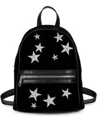 Lord & Taylor - Star Rhinestone Velvet Backpack - Lyst