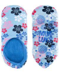 Muk Luks - Printed Slipper Socks - Lyst