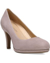 Naturalizer - Michele Suede Platform Court Shoes - Lyst