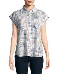 Jones New York - Oversized Hi-lo Button-down Shirt - Lyst