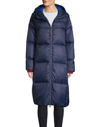 Tommy Hilfiger - Long Hooded Fill Coat - Lyst