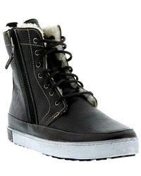 Blackstone - Leather Lace-up High Top Trainers - Lyst