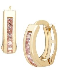 Lord & Taylor - 14k Yellow Gold Hinged Hoop Earrings - Lyst