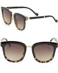 Jessica Simpson - 55mm Tortoiseshell Bridge Bar Square Sunglasses - Lyst