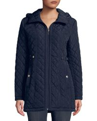 Gallery - Plus Quilted Hooded Jacket - Lyst