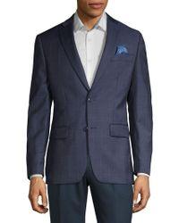 Tallia Orange - Windowpane Plaid Wool Suit Separate Jacket - Lyst