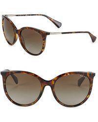 Ralph Lauren - 56mm Cat Eye Sunglasses - Lyst