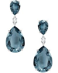 Swarovski - Pear Crystal Drop Earrings - Lyst